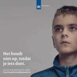 Foto kind onderdeel campagne huiselijk geweld