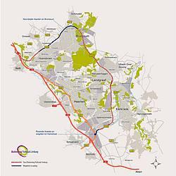 Kaart Buitenring Parkstad Limburg