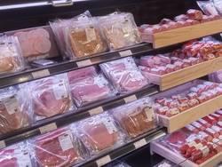Vleeswaren in supermarkt